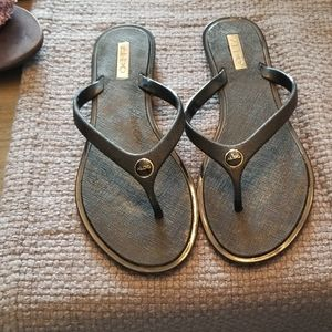 Aldo black flip flops size7.5